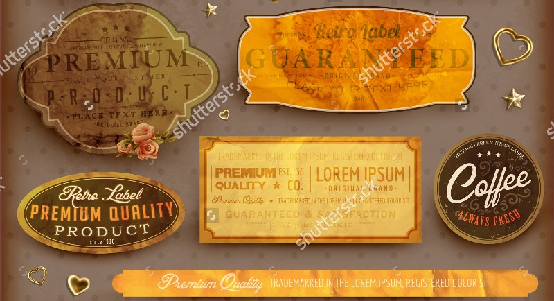old paper texture with vintage labels