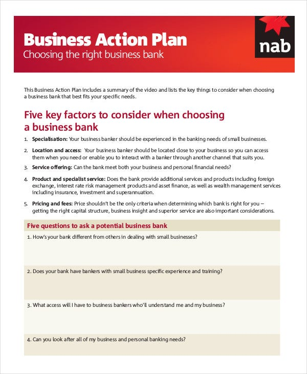 Action Plan Template Free Sample Example Format Free - Affirmative action plan template for small business