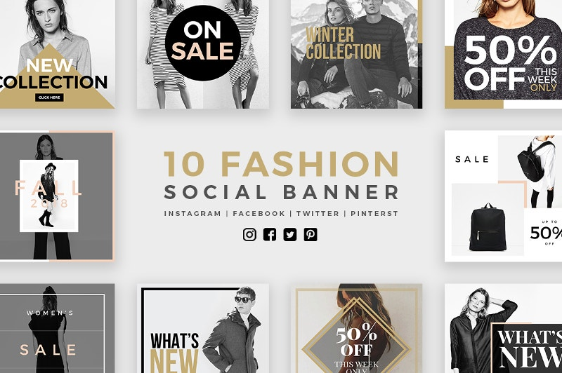 fashion-collection-social-media-banner-pack
