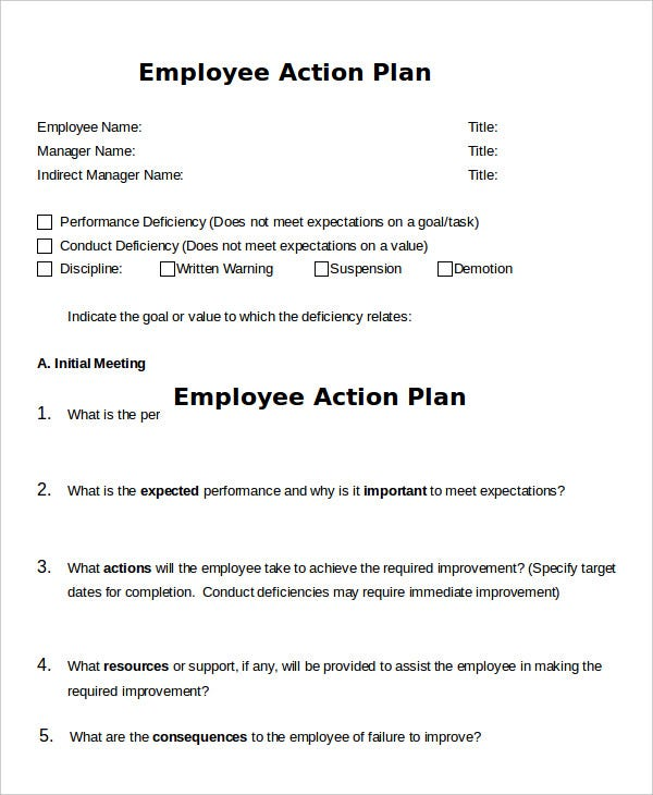 Action Plan Template   Free Sample Example Format  Free