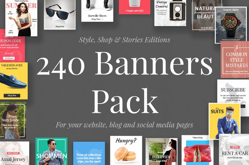 240-banners-collection-set