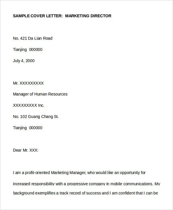 Cover Letter 13 Free Sample Example Format Free
