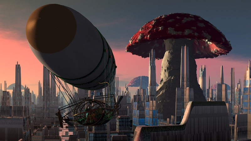 city-mushroom-art-free-download