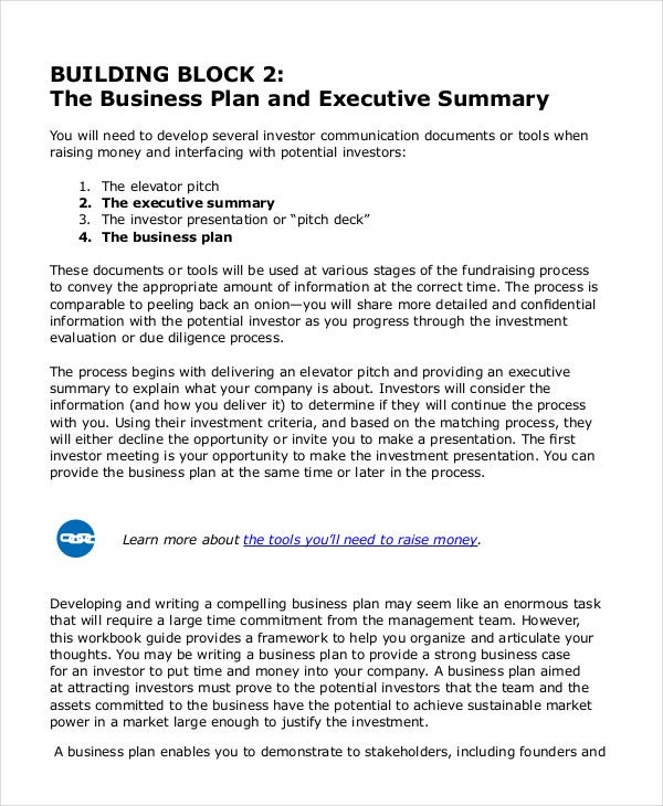 Executive Summary Template   Free Word Pdf Documents Download