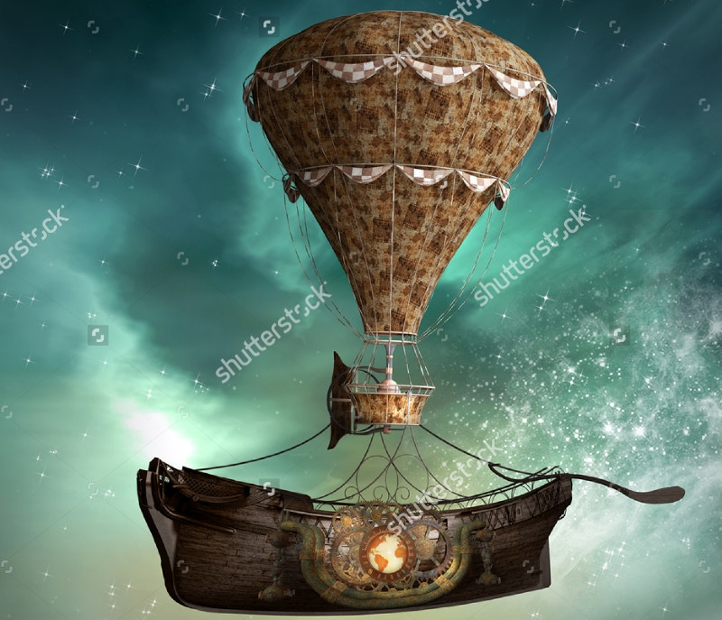 3d-illustration-fantasy-steampunk-airship