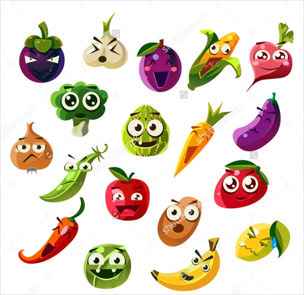 Fruit And Vegetable Emoji