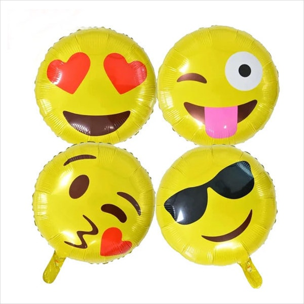 18 inch emoji balloon face