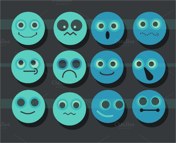 Blue Colour Emojis
