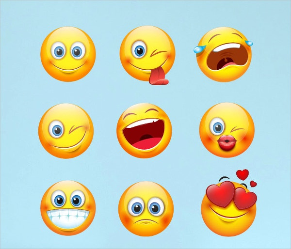 Large Emoji Emoticon Faces