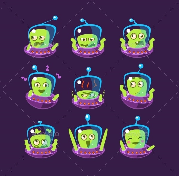 alien in ufo emoji