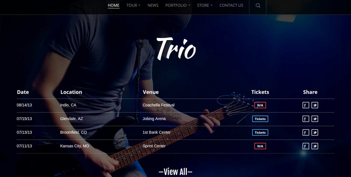 Music Band & eCommerce WordPress Website Theme $59