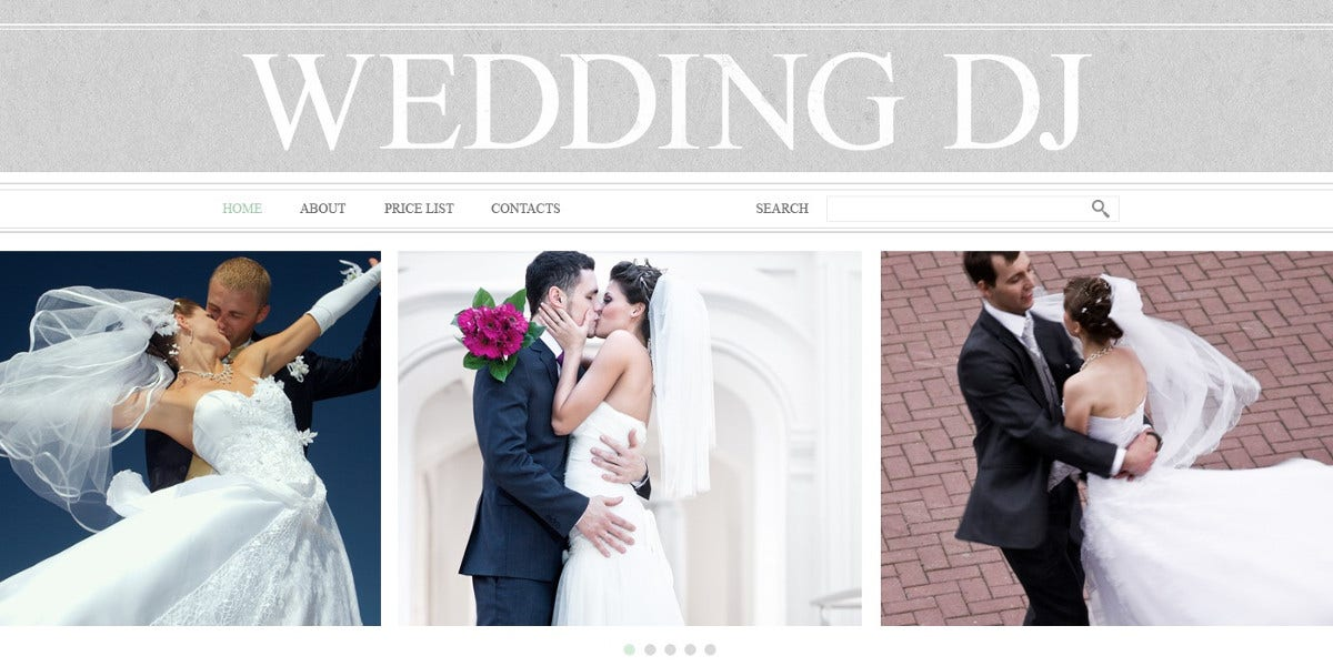 Wedding Website Dj Template $69