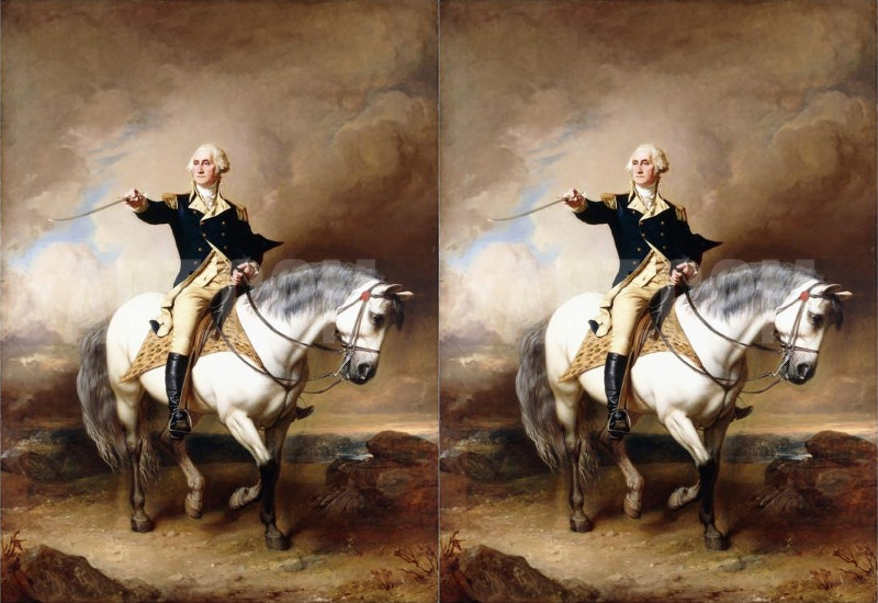 painting of george washington taking saute at trenton