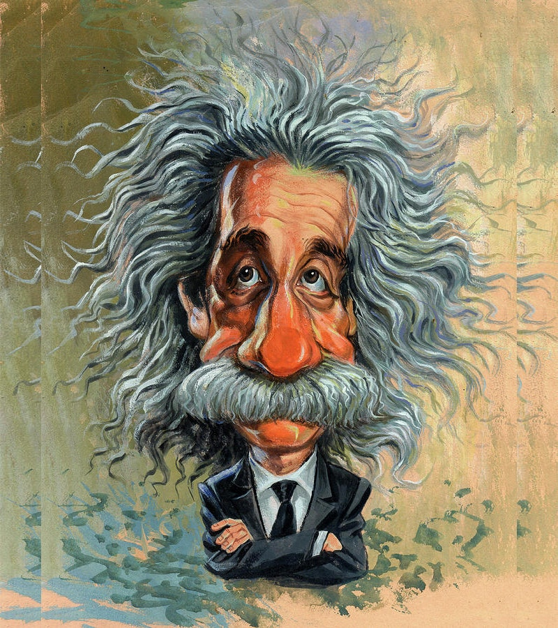 famous painting of albert einstein
