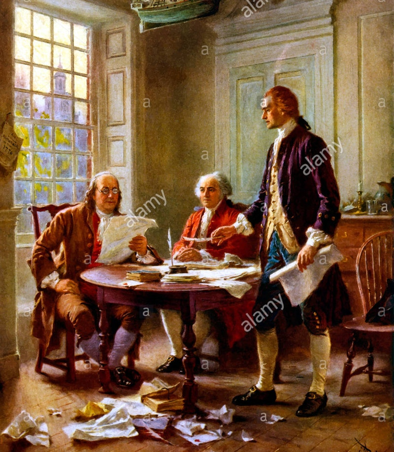 vector-painting-of-declaration-of-independence