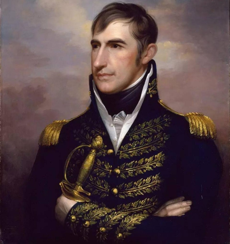 american historical painting of william henry harrison