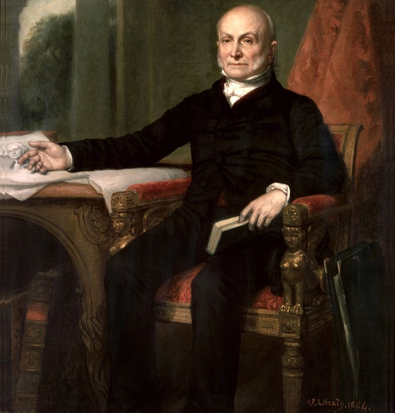 american famous painting of john quincy adams