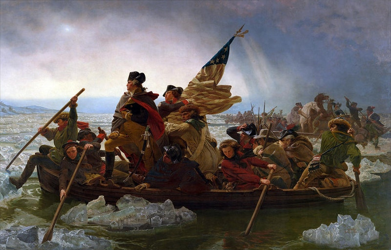 art of washington crossing the delaware river