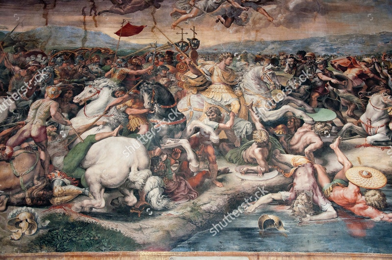 war of mural in vatican