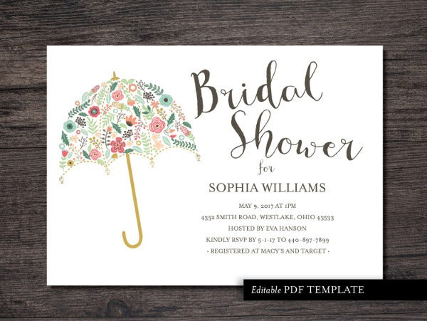 Bridal Shower Invitation Templates  Free Psd Vector Ai Eps