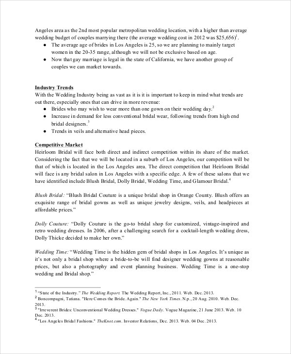 Business Plan Template   Free Word Pdf Documents Download