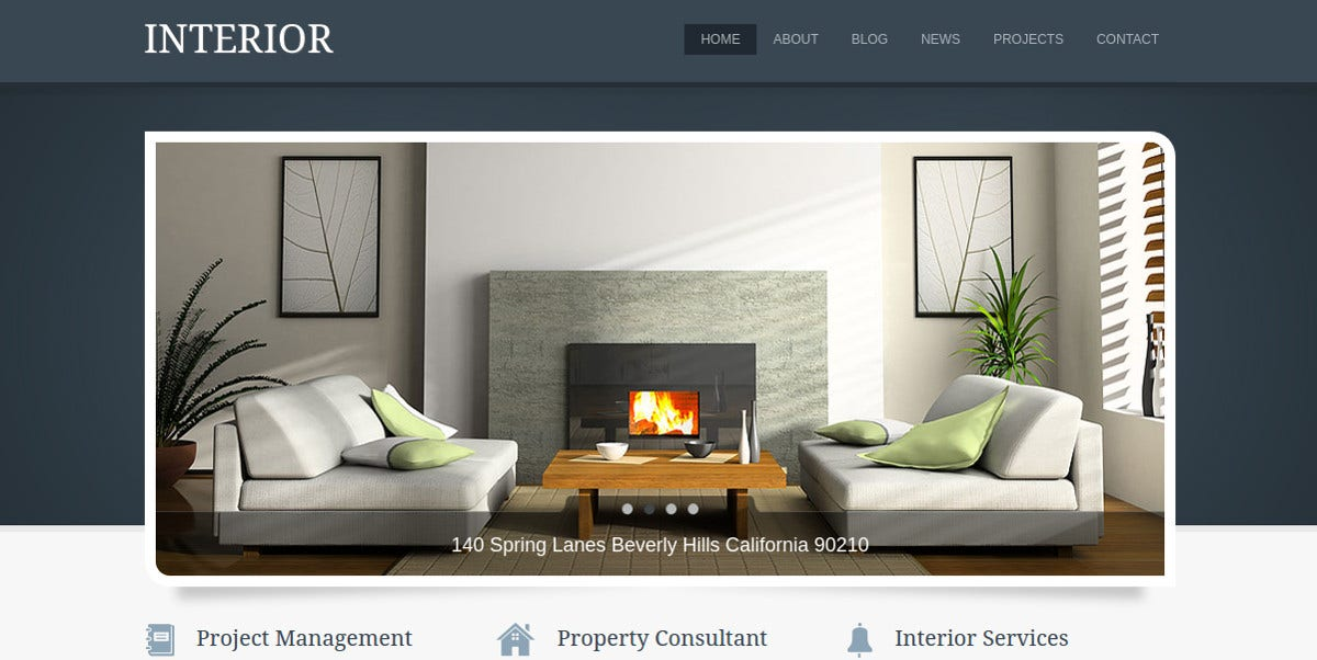 Interior Design & RealEstate WordPress Theme $49