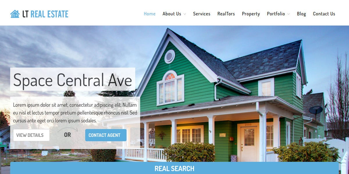Real Estate Services WordPress Theme $29