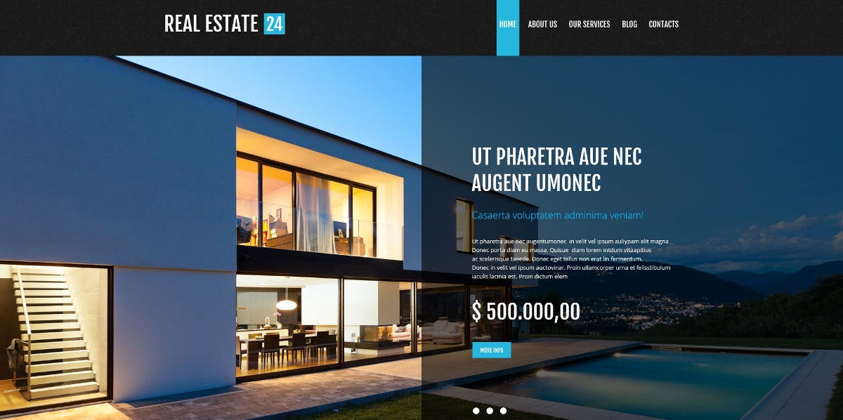 Realtor Services WordPress Theme $75