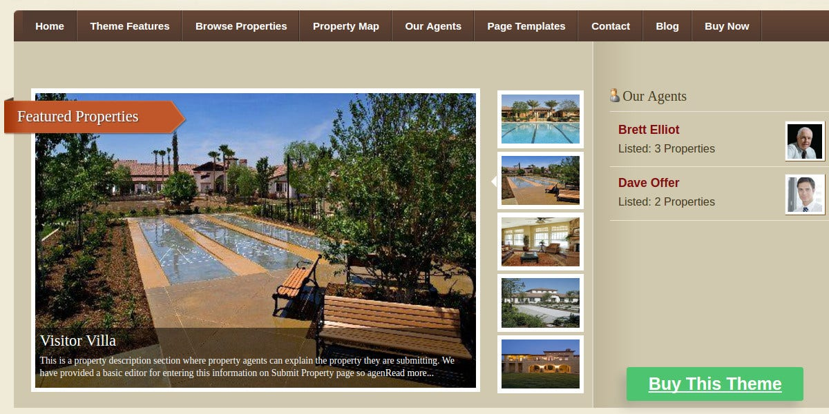 Real Estate Property Management WordPress Theme