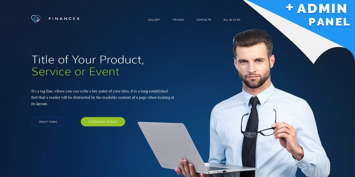 Finance Business Responsive Moto CMS Template $19