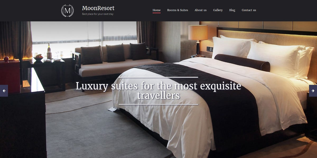 Luxury Hotels Responsive Moto CMS Template $199