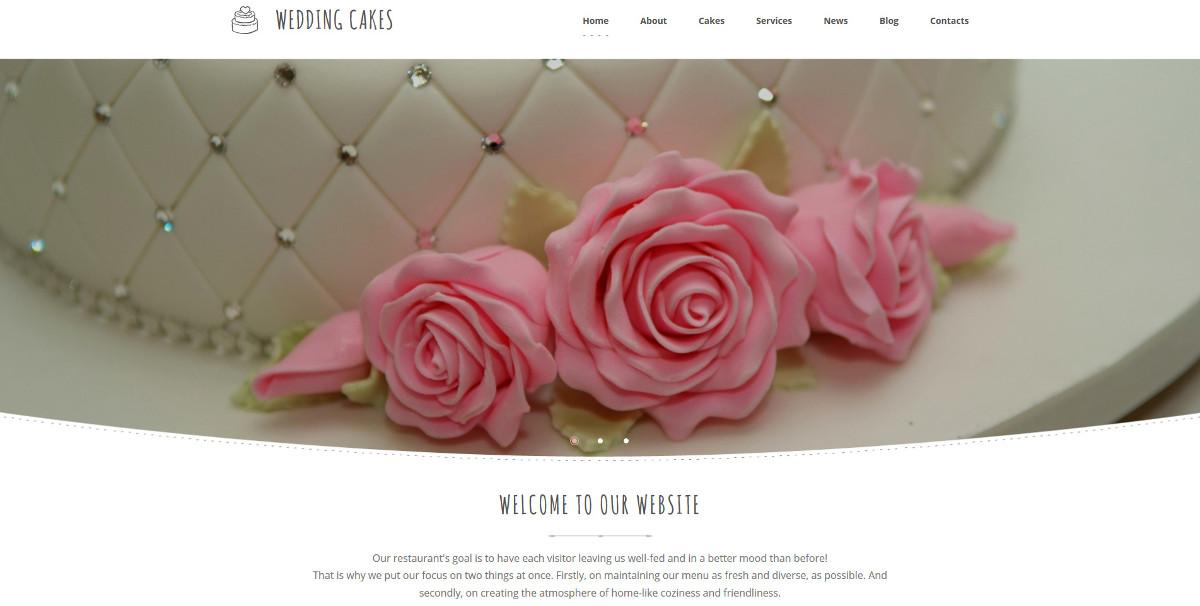 Wedding Cake Responsive Moto CMS Template $199