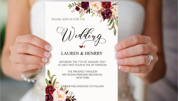 38 Simple Wedding Invitation Templates