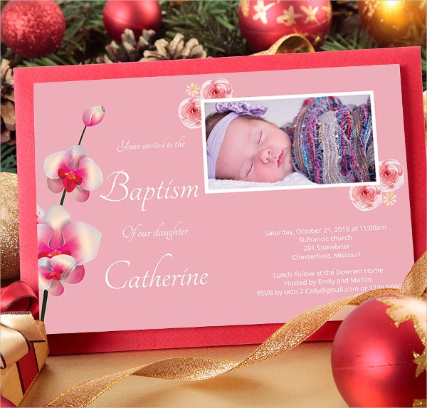mockup baptism invitation template