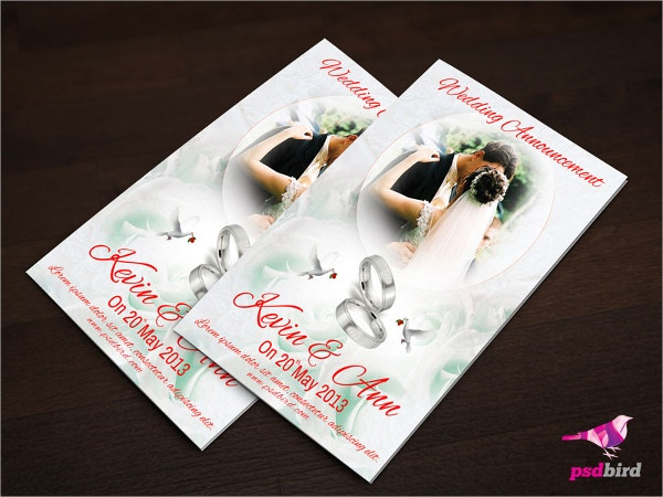 free wedding invitation card psd