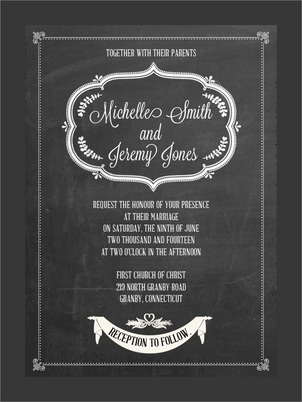 Chalkboard Invitation Free Template