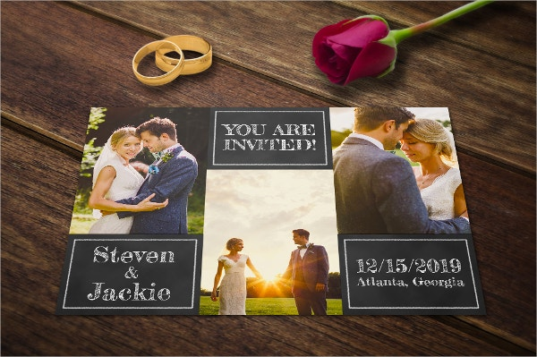 classic wedding invitation template card