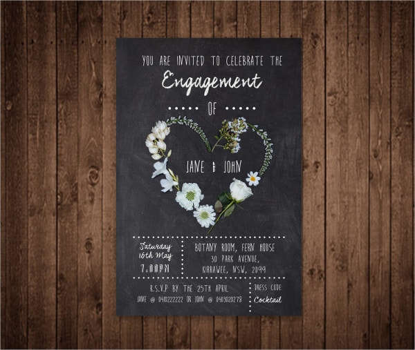 custom engagement invitation card