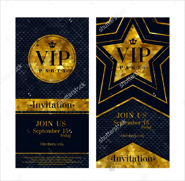 vip party invtation template