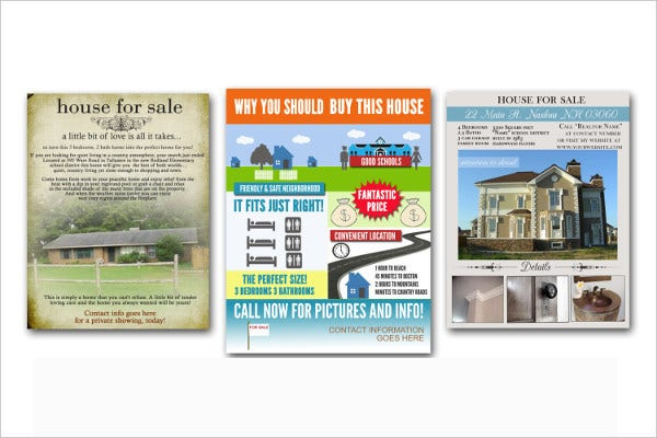 Eye Catching Real Estate Flyer Template