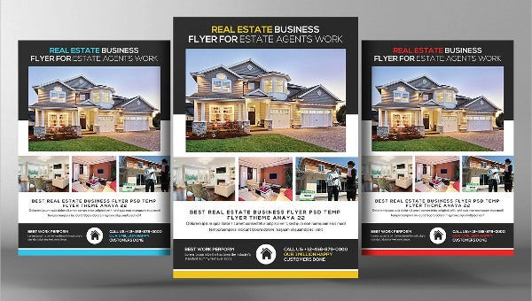 35+ FREE Beautiful Real Estate Flyer Templates - AI, Word ...