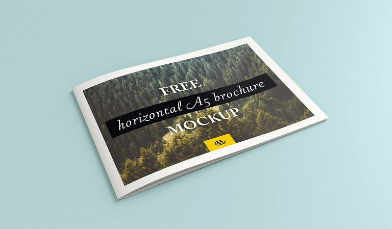 Landscape Brochures Free PSD EPS AI Format Download Free - A5 brochure template