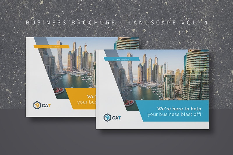 Landscape Brochures Free PSD EPS AI Format Download Free - Company profile brochure template