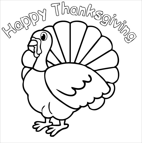 turkey hello thanksgiving coloring page3