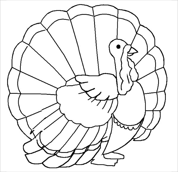 Blank Turkey Coloring Page