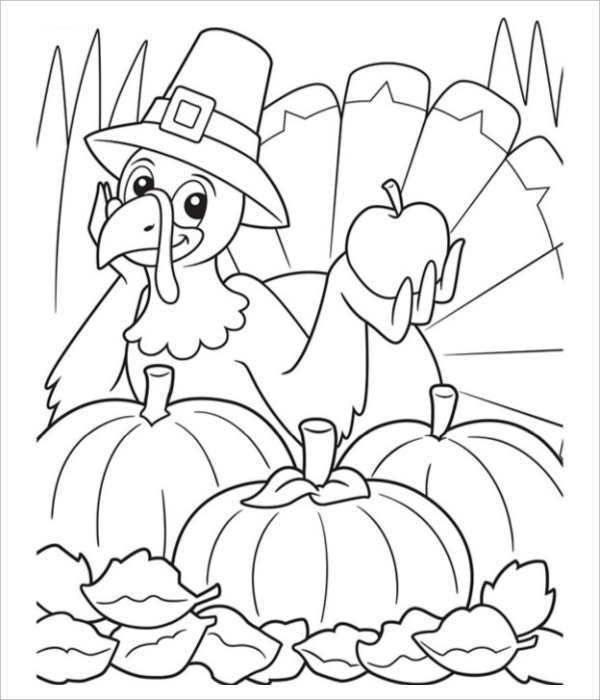 printable thanksgiving turkey coloring page