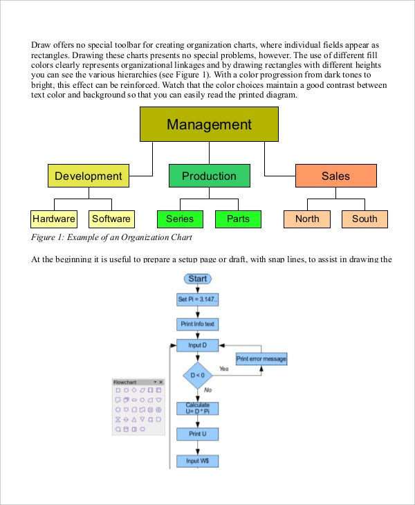 openoffice flowchart template organizational chart 9 free word pdf documents
