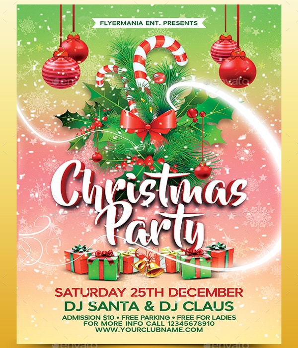 christmas party flyer template1