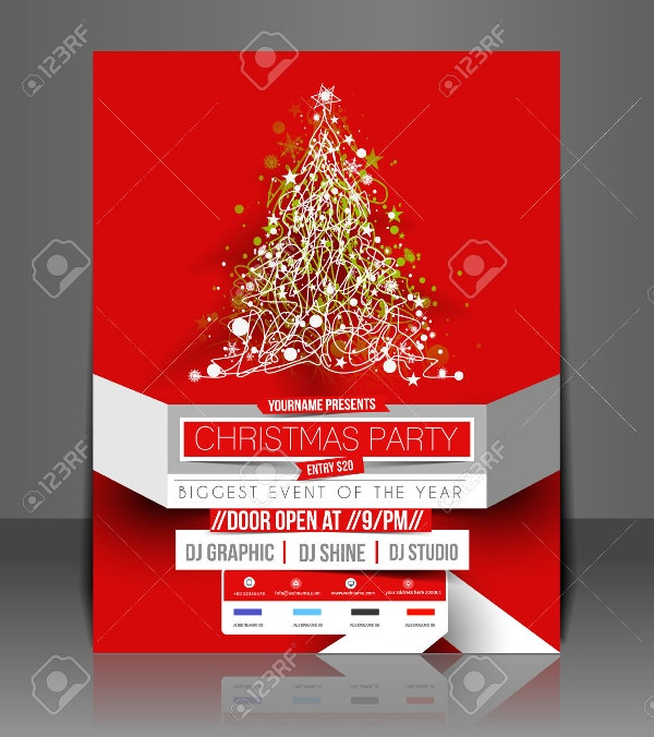 Blank Christmas Flyer Template