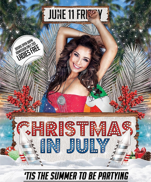 Christmas in July Flyer Template